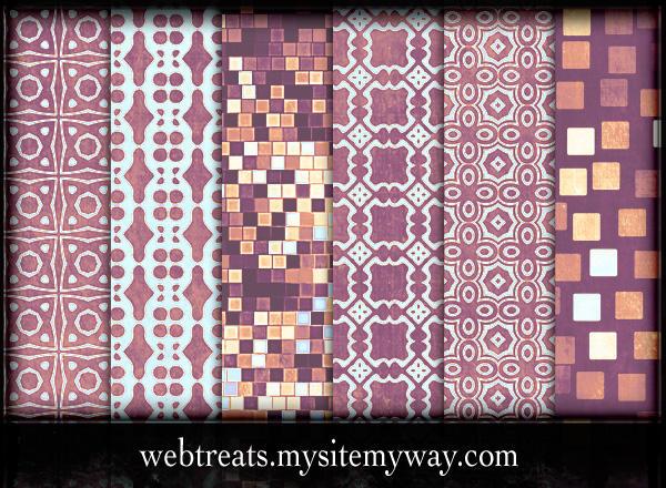 Lavender Peach Patterns Part 2 by WebTreatsETC