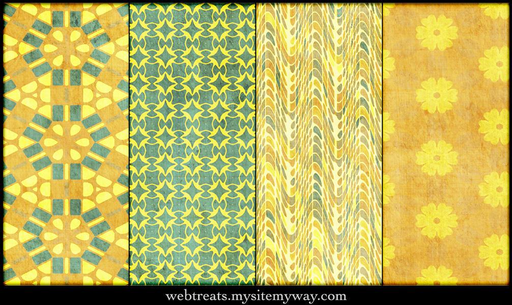Grungy Festive Patterns by WebTreatsETC