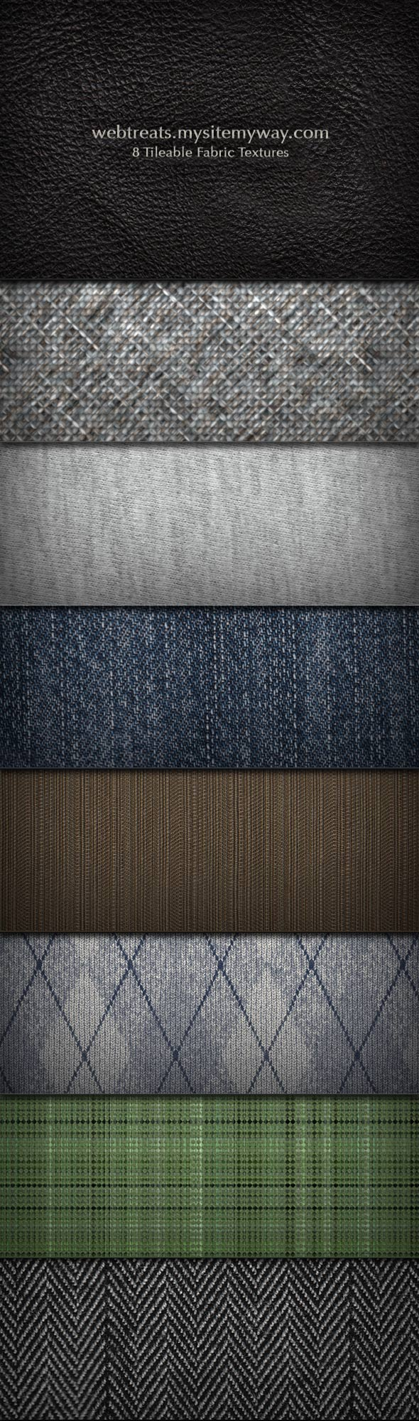 Fabric Texture and Pattern Set