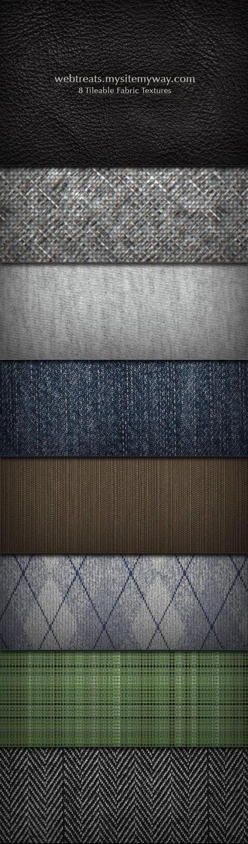 Fabric Texture and Pattern Set by WebTreatsETC