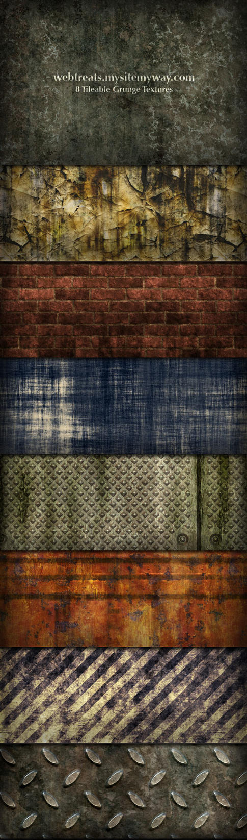 Grunge Textures and Patterns by WebTreatsETC