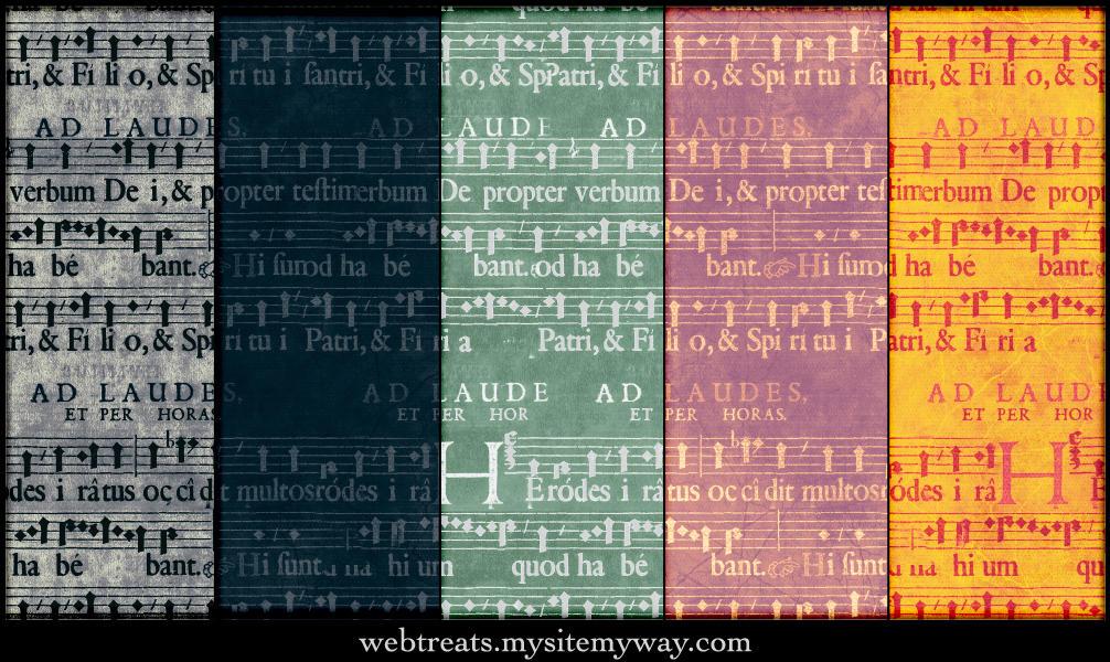 Grunge Music Score Patterns by WebTreatsETC