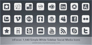 Simple White inFocus Icons