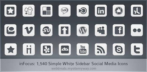 Simple White inFocus Icons