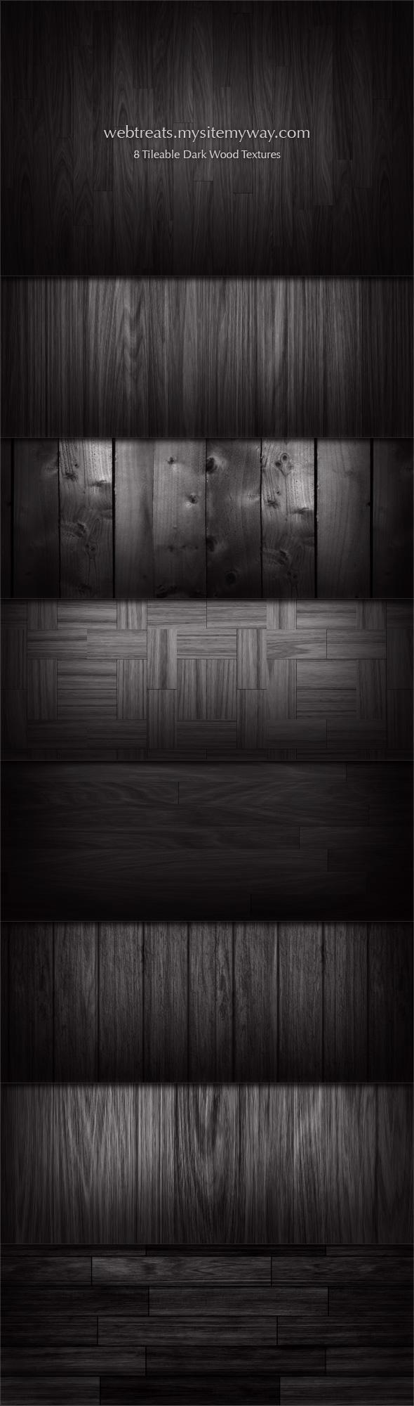 8 Tileable Dark Wood Textures by WebTreatsETC
