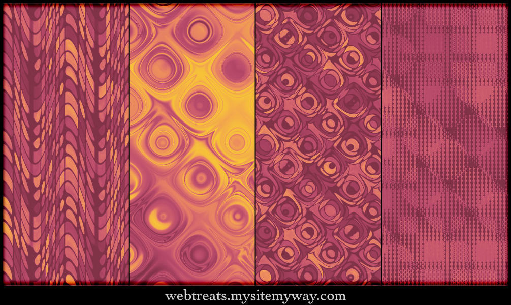 Warm Autumn Retro Patterns 2 by WebTreatsETC