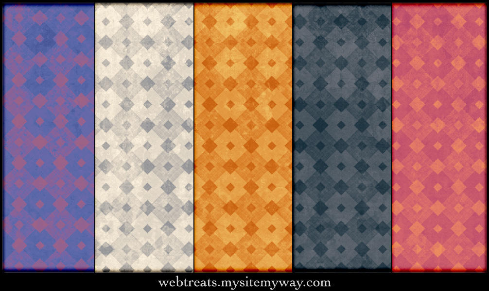 Grungy Diamond Patterns by WebTreatsETC