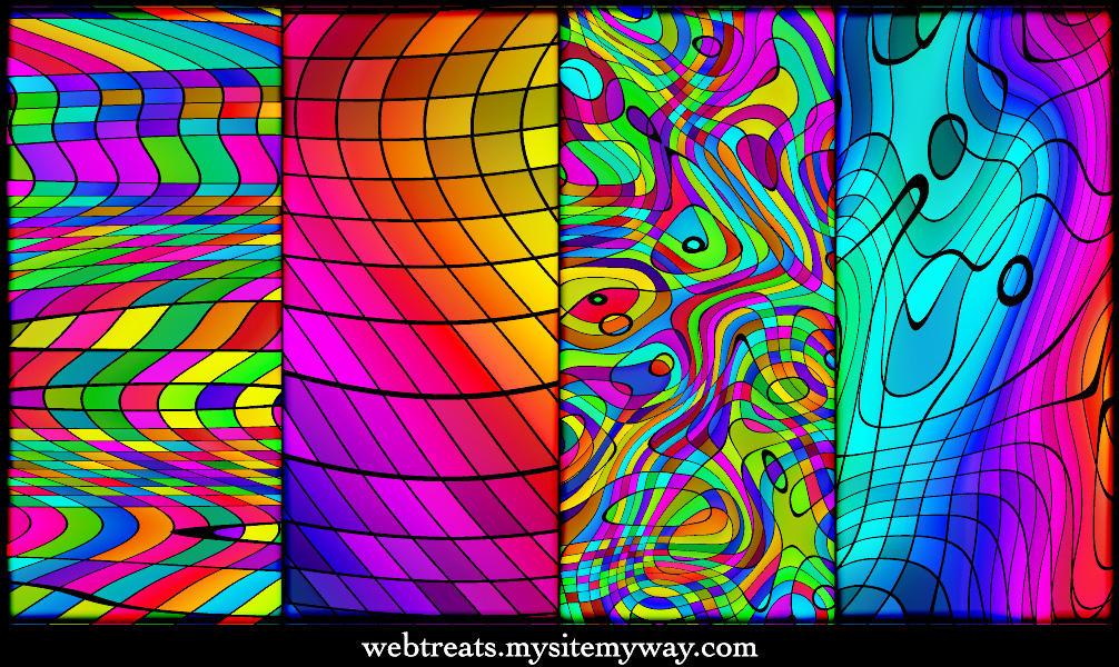 Chromatic Rainbow Patterns by WebTreatsETC