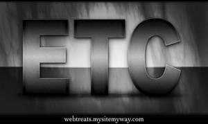 Brushed Metal Text Effect by WebTreatsETC