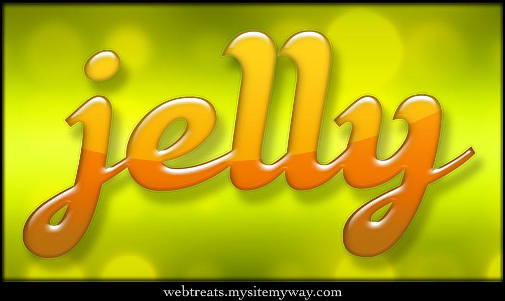 Colorful Jelly Text Effect by WebTreatsETC