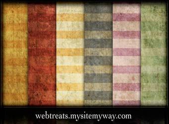 Flat Grungy Summer Stripes by WebTreatsETC