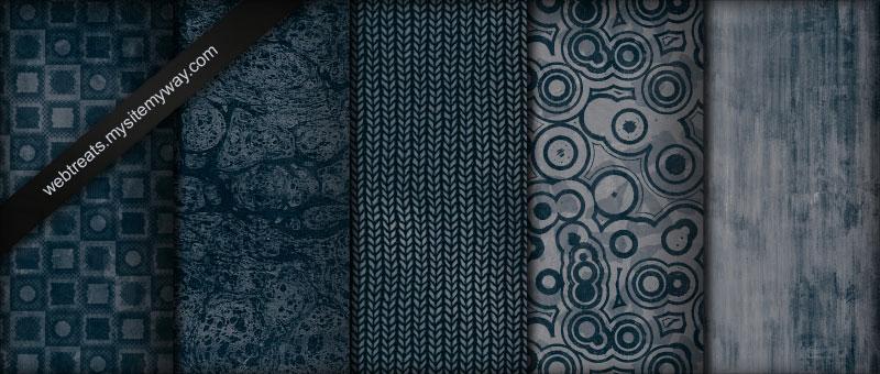 Midnight Blue Grunge Patterns
