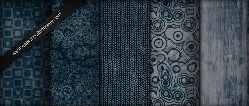 Midnight Blue Grunge Patterns by WebTreatsETC