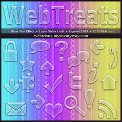 Bubbly Glass TextEffects Icons