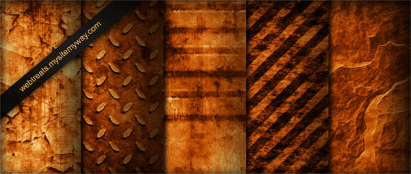Burnt Industrial Patterns P1 by WebTreatsETC
