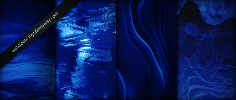 Deep Water Blues Patterns by WebTreatsETC