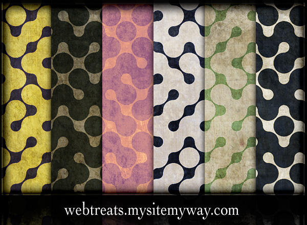Retro Grunge Maze Patterns by WebTreatsETC