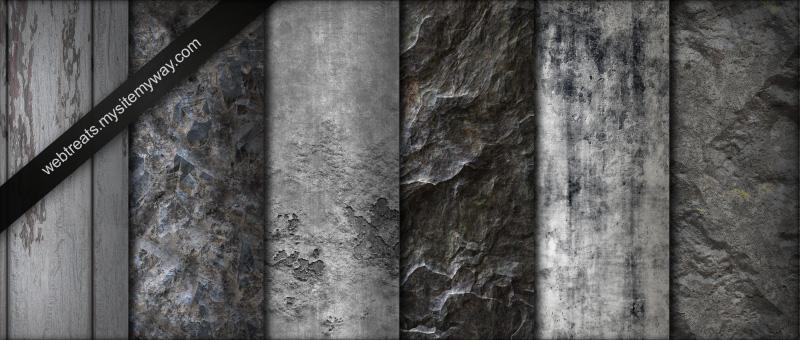 Greyscale Natural Grunge Pat by WebTreatsETC