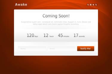 Awake ComingSoon Template PSDs by WebTreatsETC