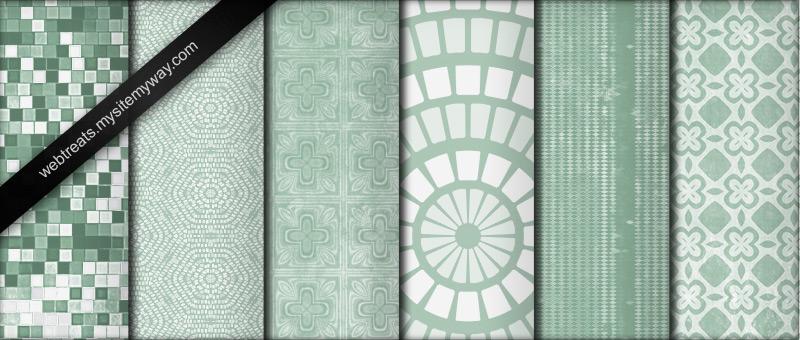 Cool Mint Green Grunge Pattern