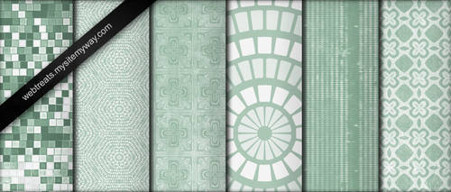 Cool Mint Green Grunge Pattern by WebTreatsETC