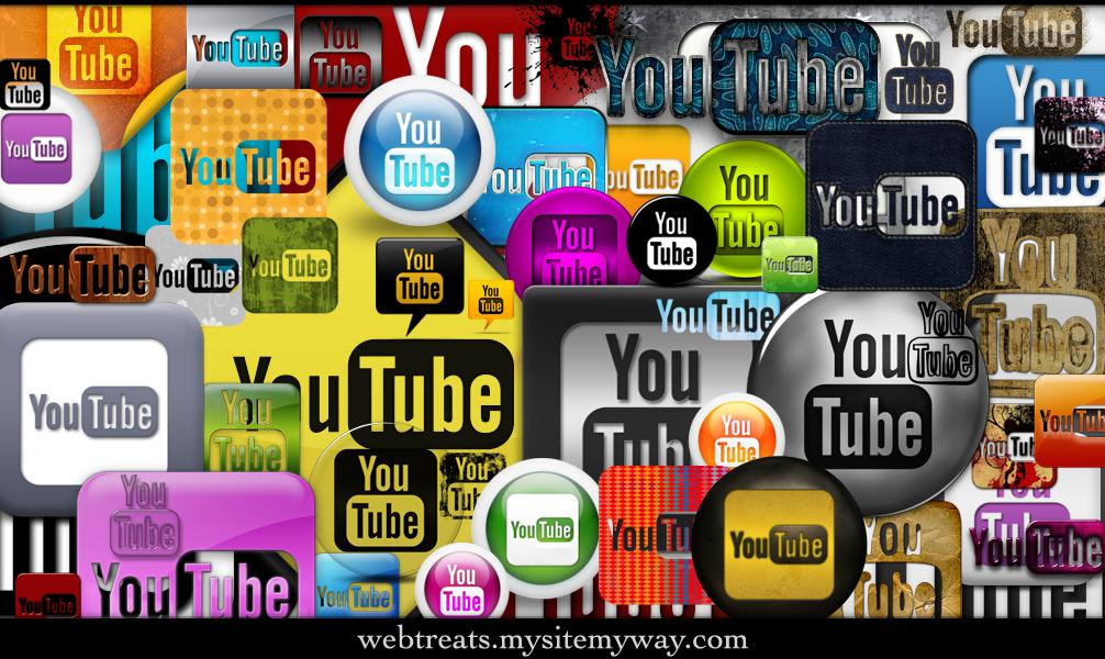 272 YouTube Icons Promo Pack by WebTreatsETC