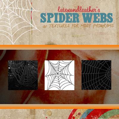 latex spider webs