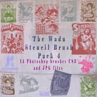 stencil brush pack 4 by wadu