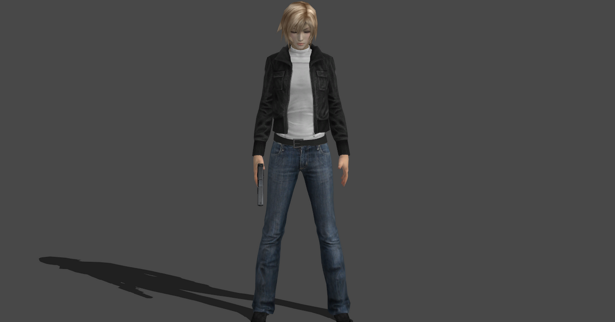 Aya Brea PE1 mod no turtleneck version by Saskeni