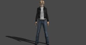 Aya Brea PE1 mod no turtleneck version