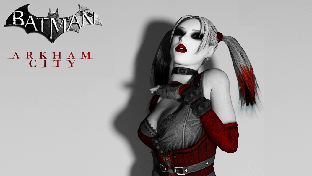 Harley Quinn Arkham City style by Saskeni