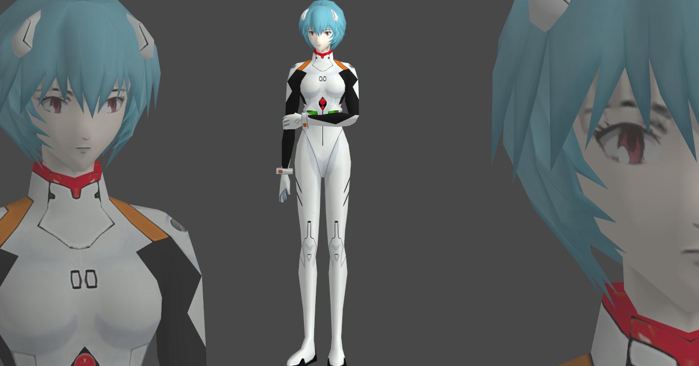 Rei Ayanami plug-suit Hi-poly plus new textures by Saskeni