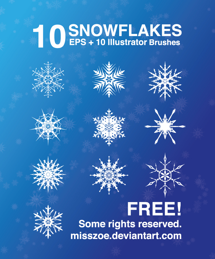 Vector Snowflakes EPS and Brush