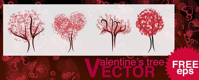 Vector Valentine's Tree
