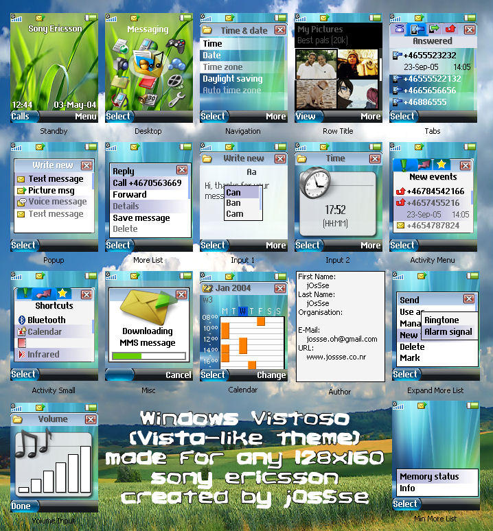 tema sony ericsson w200i software