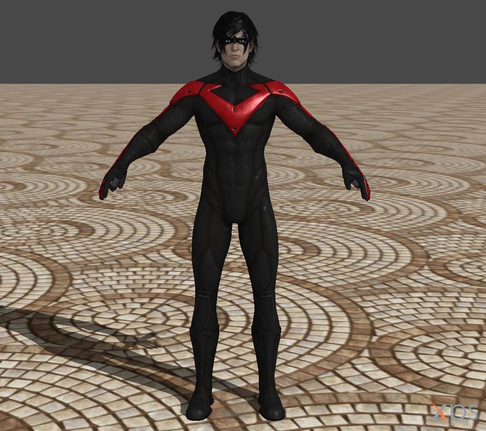 Arkham_City_Nightwing_by_Ventrue New 52 costume by Red-Lantern-2814 on ...