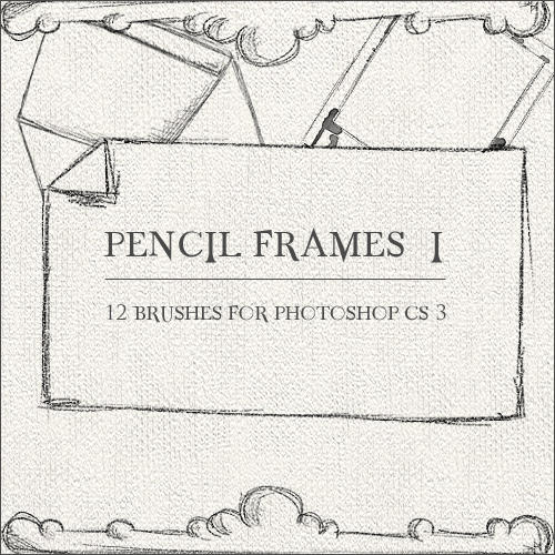 Pencil Frames I by GrayscaleStock