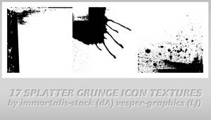 17 Splatter Icon Textures