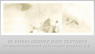 5 Khaki Grunge Icon Textures by immortalis-stock