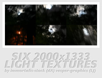 Six 2000x1333 Light Textures by immortalis-stock