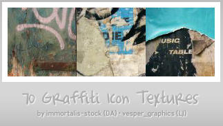 70 Graffiti Icon Textures by immortalis-stock
