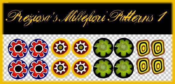 PREZIOSA's Millefiori Pat 1 by Preziosa