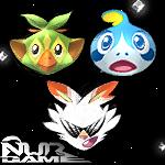 Pokemon Sword Shield Starters Invaders : NURGAME by NurRayArt