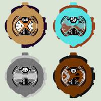 Ridewatches (oc riders) by Kamen-Sentai