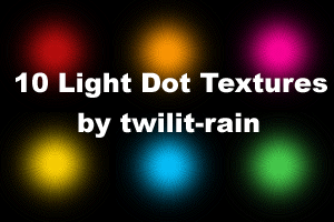 10 Light Dot Textures by twilit-rain