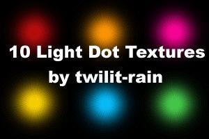 10 Light Dot Textures by twilit-rain