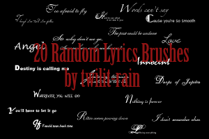 20 Random Lyrics Brushes by twilit-rain