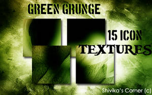 Green Grunge Icon Textures by spiritcoda