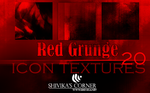 Red Grunge Icon Textures