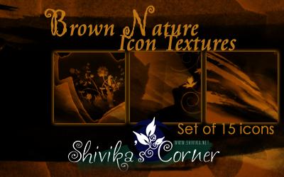 Brown Nature Icon Textures by spiritcoda